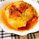 完熟トマトの水分だけで煮込むロールキャベツ