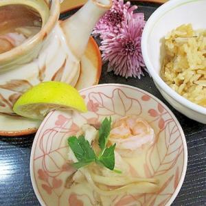 香り豊かで、簡単に松茸ご飯と土瓶蒸し