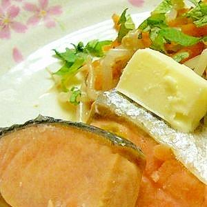 鮭の味噌バター蒸し