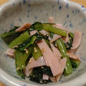 火を使わないレシピ☆小松菜とハムのナムル