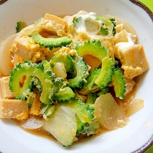 ゴーヤと高野豆腐の卵とじ