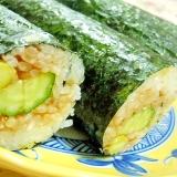 リメイク❤枝豆ご飯de胡瓜と甘味噌の巻き寿司❤