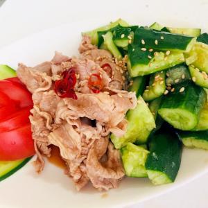 ★今日のおつまみ- 「豚肉のニンニク黒酢ソース」