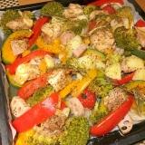 天板のまま提供!鶏と野菜のグリル