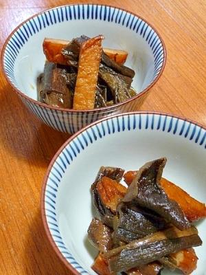 干しずいき☆芋がらとさつま揚げの炒め煮