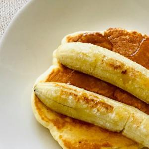 簡単スイーツ*焼きバナナのパンケーキ