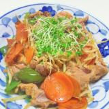 豚肉と野菜のスパイシーカレー炒め