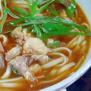 簡単ランチ☆ 豚骨スープ「カレーうどん」
