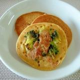 朝食に!ブロッコリーとツナの大豆粉パンケーキ♪