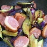 スモーク鴨と茄子の炒め物