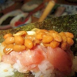 納豆マグロ寿司ロール