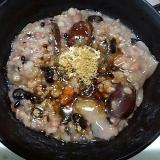 小豆と黒豆と雑穀米の八宝粥