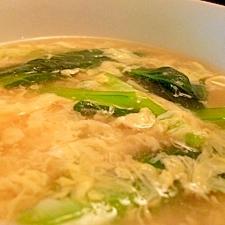 青菜の玉子スープ