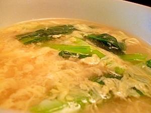 青菜のふわふわ玉子スープ