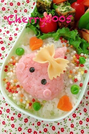 簡単キャラ弁☆ほっぺちゃんのお弁当♪