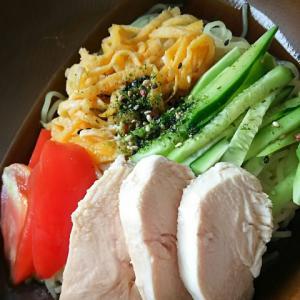 時短!鶏むね肉とトマトキュウリの冷やし中華