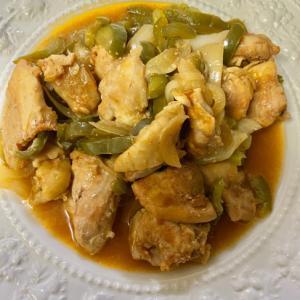 *下味冷凍シリーズ*鶏もも肉とピーマンの甘酢炒め