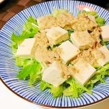 豆腐サラダ ツナごまドレッシング