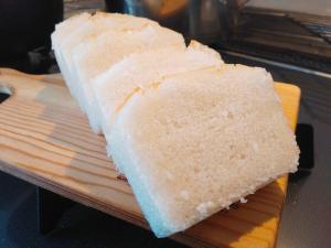 ふわふわ米粉100%の米粉パン♡パウンド型
