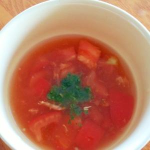 トマトの冷製スープ♪簡単♪夏にピッタリ♪