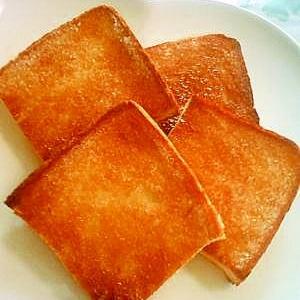 ☆食パンで簡単ラスク(風??)☆5分放置(笑)