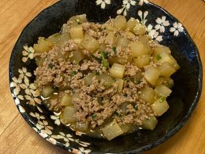 お弁当にも♪大根と豚ひき肉のトロトロ煮