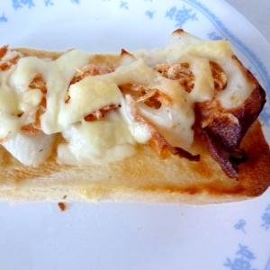 ☆オイマヨで♪ ちくわと桜エビのチーズトースト☆
