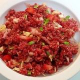 愛犬用 ❤馬肉と鶏皮と野菜と苺のごはん❤