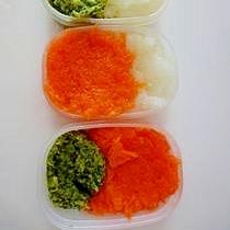 三種のすりつぶし野菜(離乳食初期~中期)