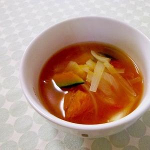 やさしい甘さ*かぼちゃと玉ねぎのトマトスープ*