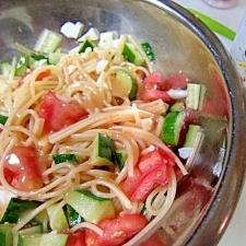 胡麻しゃぶ野菜パスタサラダ