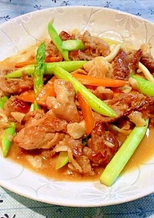 韓国風♣サムジャンを使った豚コマ炒め♣