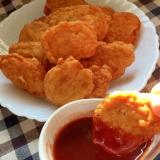 豆腐で柔らか♫鶏むね肉のチキンナゲット