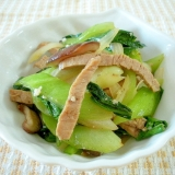 カンタン☆青梗菜と煮豚の塩麹炒め☆