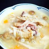 炊飯器で簡単!手羽先トロトロもち麦ヘルシー参鶏湯