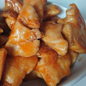 鶏胸肉のケチャップ炒め