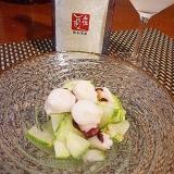 おうち居酒屋、蛸と加賀太胡瓜の酢の物