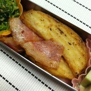 お弁当!ベーコンとポテトの炒め物☆