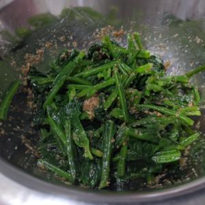 簡単常備菜♪鉄分豊富♪ほうれん草のナムル