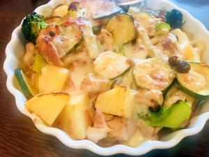 鶏肉と野菜のとろ~りチーズ焼き