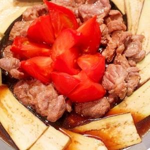 【簡単】トマトとラム肉のすき焼き