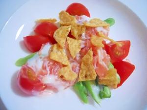 アスパラとプチトマト グレープフルーツYGサラダ♪