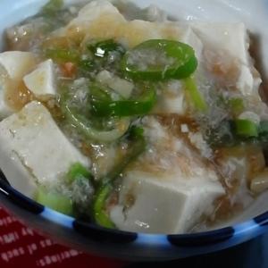 レンジで豆腐のカニあんかけ