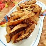 塩麹入り☆ちくわと椎茸のゴマごま炒め