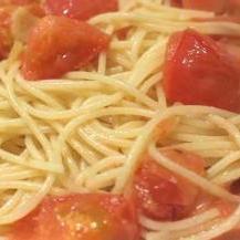 私がトマトを好きになった♪シンプルトマトスパ