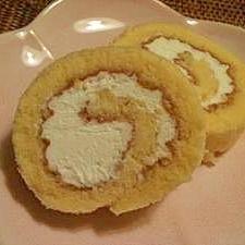 上新粉を使ったシンプルロールケーキ