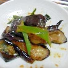 生姜たっぷり!茄子とネギの香り炒め