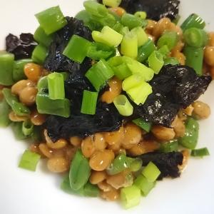 納豆といんげん豆のサラダ(^^)
