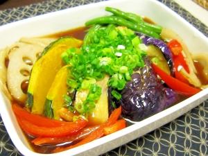 和食☆野菜が美味しい!茄子と野菜の揚げポン酢浸し