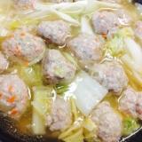 野菜たっぷりな肉団子鍋(ू。•ω•。)☆